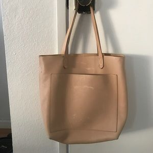 Madewell transport tote in medium linen color